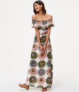 LOFT Tall Marigold Off The Shoulder Maxi Dress