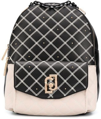Liu Jo Logo-Plaque Quilted Backpack