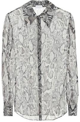 Magda Butrym Snake-print silk shirt