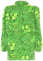 Balenciaga Twisted floral crepe blouse
