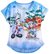 Disney Santa Mickey Mouse and Friends Holiday 2016 Tee for Women - Walt World