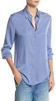 Vince Slim-Fit Stretch-Silk Blouse