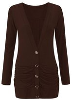 Zara Fashion-Women Plus Size Long Sleeve Boyfriend Button Up Cardigan Sweater Top (xl, )