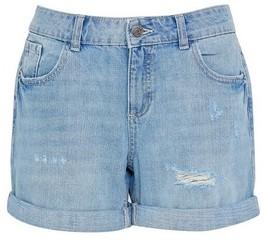 Dorothy Perkins Womens Dp Petite Blue Light Wash Boy Denim Shorts, Blue