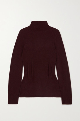 Altuzarra Loretta Ribbed Cashmere Turtleneck Sweater - Burgundy