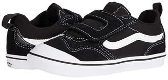 Vans Kids ComfyCush New Skool V (Infant/Toddler) (Black/True White) Kid's Shoes
