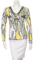 Emilio Pucci V-Neck Geometric Print Top