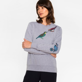 Paul Smith Women's Grey Cotton Sweatshirt With 'Bird' Print