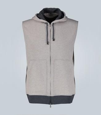 Brunello Cucinelli Sleeveless hooded sweatshirt