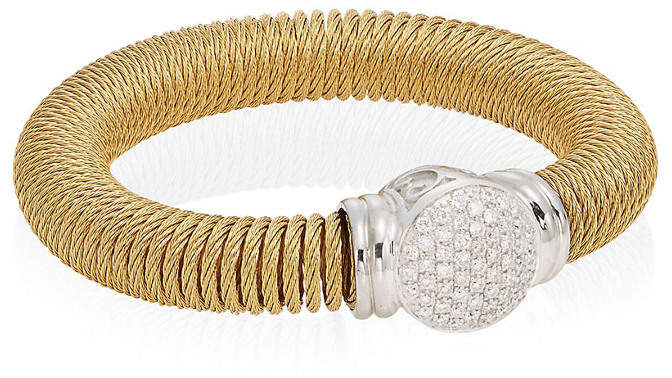 Alor 18K Yellow Gold Stainless Steel .50 Ct. Tw. Diamond Coil Bracelet