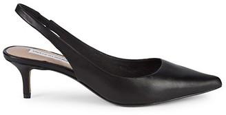 Saks Fifth Avenue Daria Leather Kitten-Heel Slingback Pumps