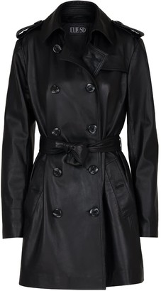 Elle.Sd Leather Trench Coat