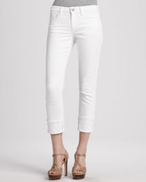 Joe's Jeans Bonnie Clean Cuffed Cropped Jeans, White