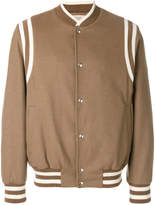Maison Flaneur striped detail bomber jacket