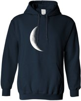 Tim And Ted Half Moon Galaxy Space Waning Crescent Phase Lunar Stars Astronomy Gift Hoodie