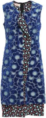 Marni Chenille-paneled Floral-print Silk-blend Jacquard Dress