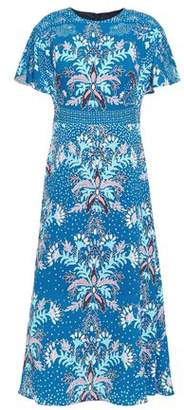 Peter Pilotto Floral-print Cloque Midi Dress