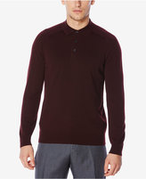 Perry Ellis Men's Merino Ribbed Polo Sweater