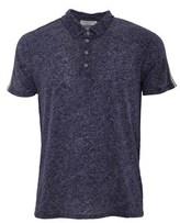 Daniele Fiesoli Men's Blue Linen Polo Shirt.