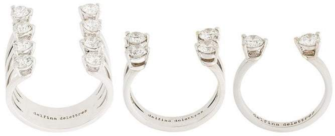 Delfina Delettrez 'Dots' diamond ring set