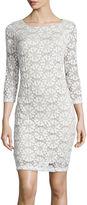 Ronni Nicole RN studio by 3/4-Sleeve Lace Sheath Dress
