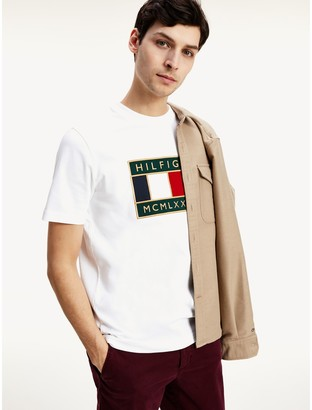 Tommy Hilfiger Relaxed Fit Organic Cotton Flag T-Shirt