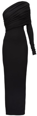 Alexandre Vauthier One-shoulder Jersey Maxi Dress - Black