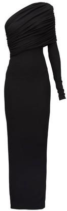 Alexandre Vauthier One-shoulder Jersey Maxi Dress - Womens - Black