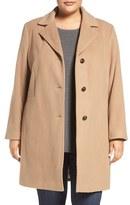 Calvin Klein Plus Size Women's Wool Blend Reefer Coat