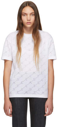 Stella McCartney White Devore Monogram T-Shirt