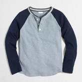 J.Crew Factory Boys' long-sleeve striped ringer colorblock henley