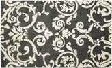 "Laura Ashley Halstead Plush Knit Microfiber 24"" x 36"" Accent Rug, Gray"