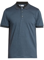Brioni Short-sleeved Wool And Cashmere-blend Polo Shirt
