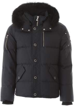 Moose Knuckles Fur Trim Hooded Down Coat