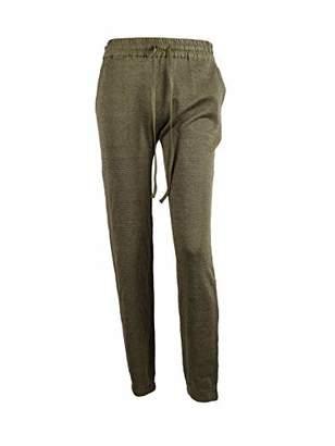 Peplum Pointe Women's Drawstring Linen Pants Elastic Waist Lightweight Trousers (