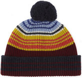 Paul Smith Accessories Bright Stripes Knitted Lambswool Beanie