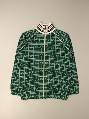 Gucci Cardigan With All Over Logo