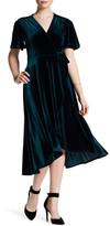 Soprano Velvet Envelope Midi Dress