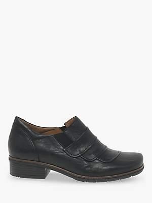 Gabor Pamela Low Block Heel Casual Shoes, Black