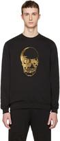 Markus Lupfer Black and Gold Skull Pullover