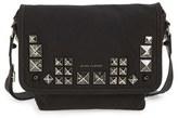 Marc Jacobs 'Small Studs' Canvas Messenger Bag - Black
