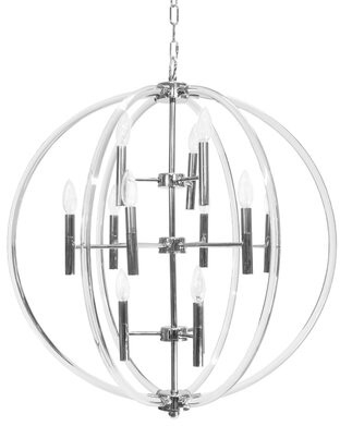 Worlds Away 12 - Light Candle Style Globe Chandelier