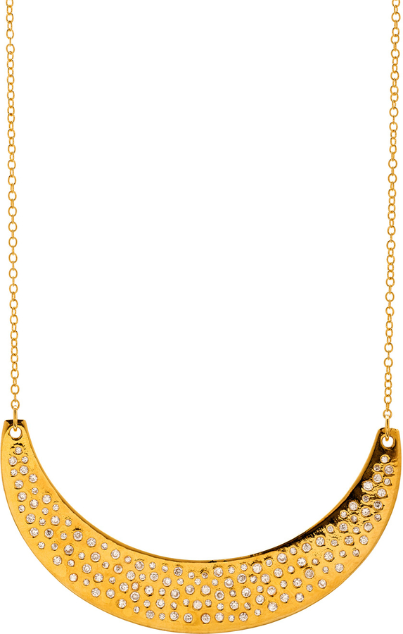 Gorjana Gold Shimmer Small Plate Bib Necklace
