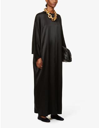 LA COLLECTION Epione silk-satin maxi dress
