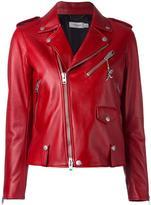 Coach studded detailing biker jacket - women - Lamb Skin/Viscose - 2