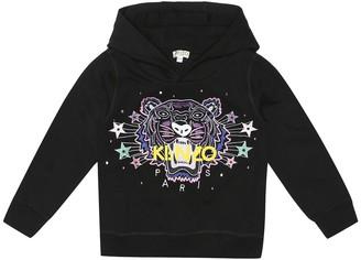 Kenzo Tiger logo cotton-blend hoodie