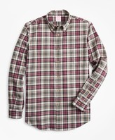 Brooks Brothers Madison Fit Multi-Plaid Brushed Flannel Sport Shirt