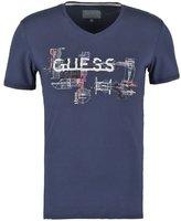 Guess Hugger Mugger Print Tshirt Blue Navy/bleu