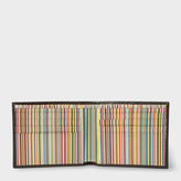 Paul Smith Men's Brown Leather Signature Stripe Interior Billfold Wallet