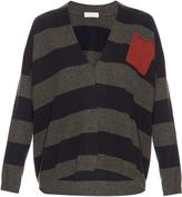 Brunello Cucinelli Patch-pocket striped cashmere cardigan